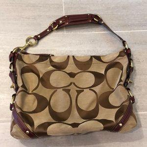 Coach Signature Carley Handbag